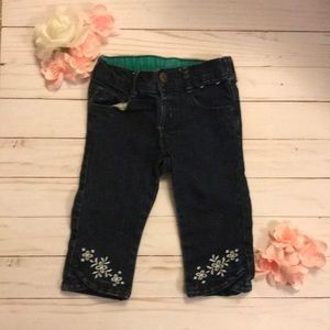 Toddler jeans with floral detailing